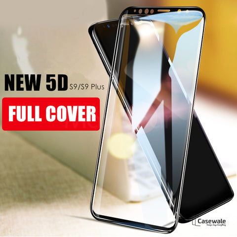 5D Tempered Glass Screen Protector For Samsung Galaxy S9/ S9 Plus