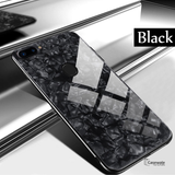 Luxury Marble Pattern Tempered Glass Case for Oppo F9 Pro