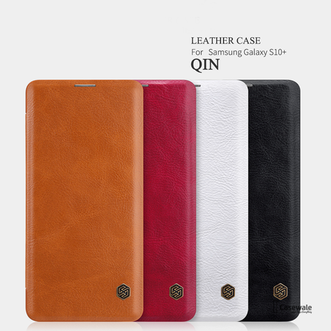 Nillkin Qin Retro PU leather Flip Case for Galaxy S10 / S10 Plus