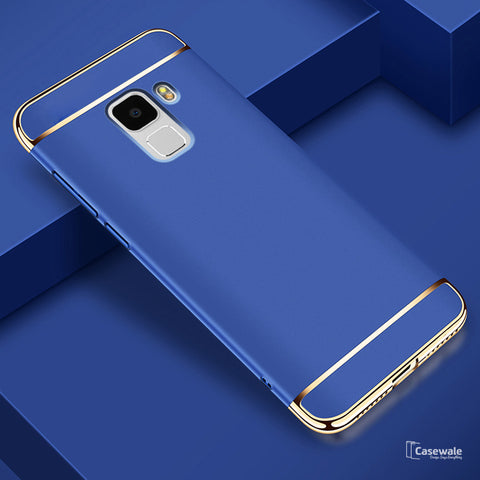 Luxury 3 in 1 Electroplating Back Case for Galaxy A8 Plus