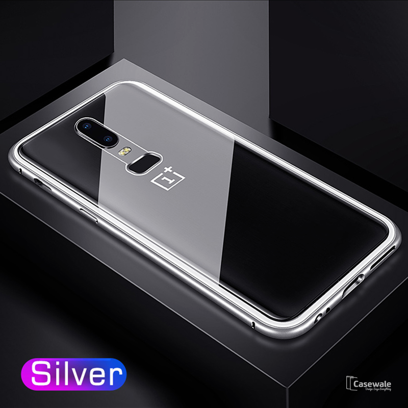100% authentic 281ed ffc0b Electronic Auto-Fit Magnetic Glass Case for OnePlus 6