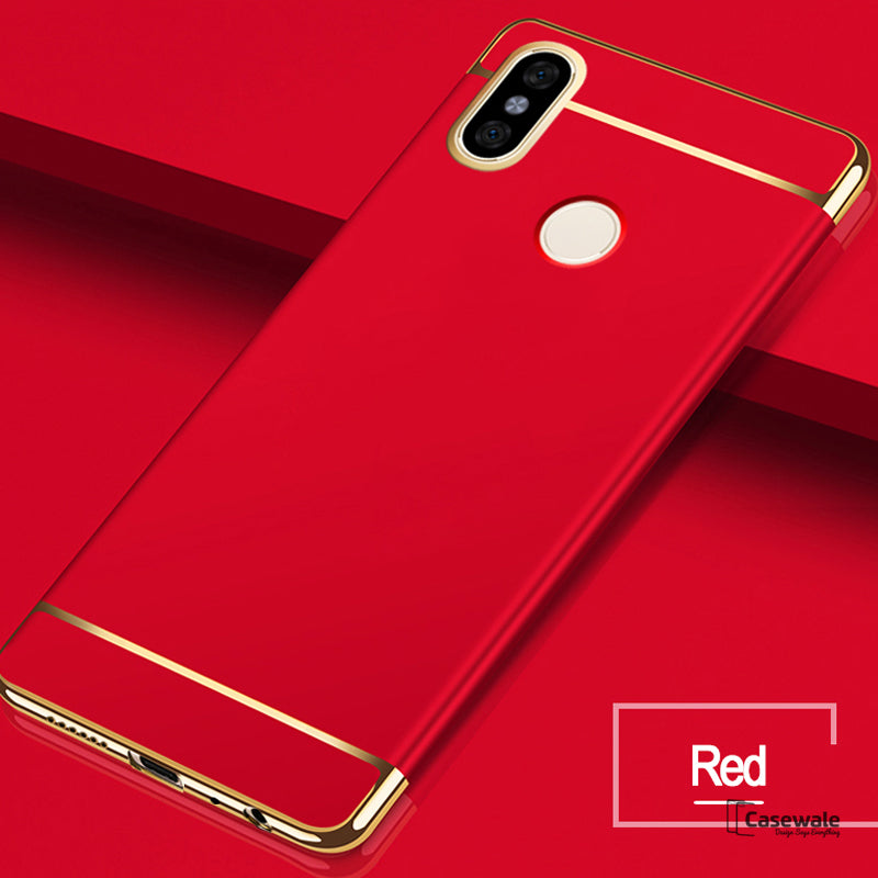 new product 31443 07e2b Luxury Electroplating 3 in 1 Case for Redmi Note 5 Pro