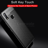 Carbon Fiber Soft TPU Leather Case for Vivo V9
