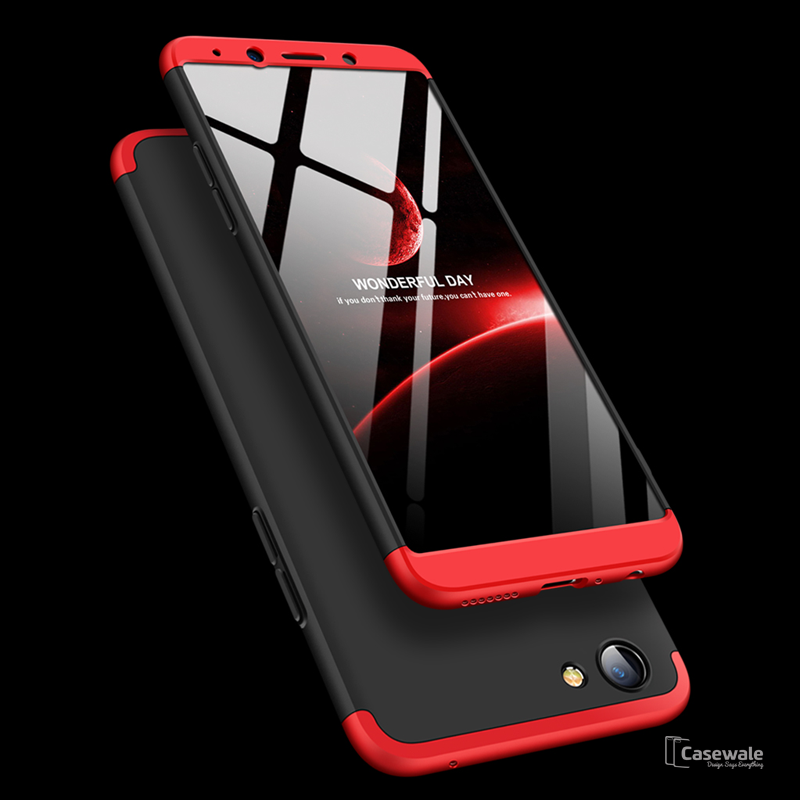 quality design 0586a 09b91 3 in 1 Ultimate 360 Degree Protection Case for Oppo Realme 1