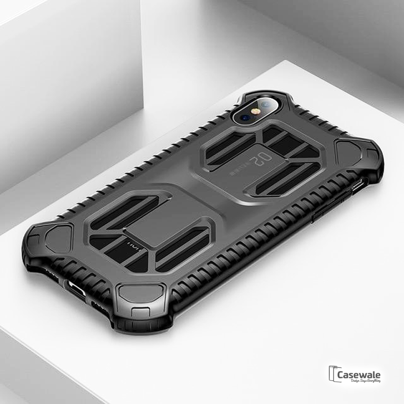 Baseus Military Armor Protective Phone Case For iPhone X