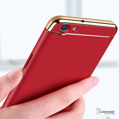 Ultra Thin Electroplating 3 in 1 Case for Oppo F3