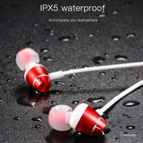 Bluetooth Wireless Headphone Magnet Earbuds with Microphone Stereo