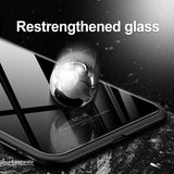 Msvii Luxury Slim Tempered Glass Case for iPhone XS