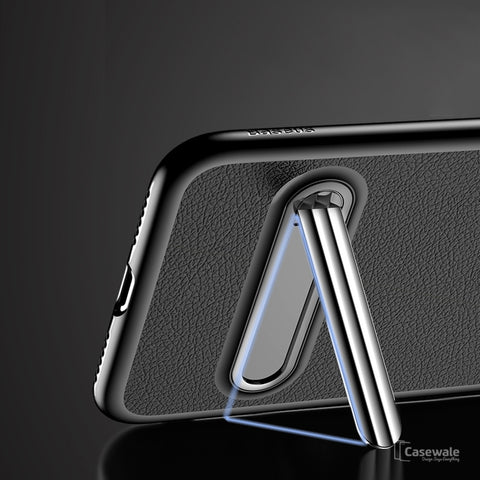 Luxury Magnetic Holder Kickstand Slim Case for Apple iPhone X