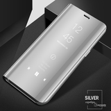 Mirror Clear View Flip Phone Case for OnePlus 7 [Non-Sensor]