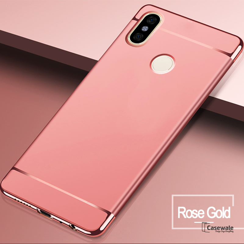 low priced 43ebd e3581 Luxury Electroplating 3 in 1 Case for Redmi Note 6 Pro