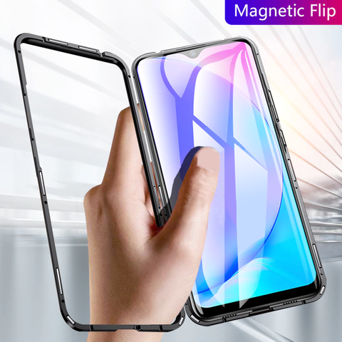 Electronic Auto-Fit Magnetic Glass Case for Vivo Y17
