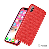 Luxury Grid Weaving Ultra Thin Protective Case for iPhone XS