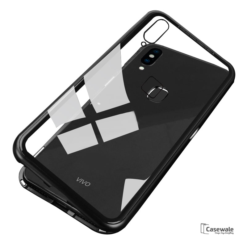 save off 6b899 a2596 Electronic Auto-Fit Magnetic Glass Case for Vivo V9