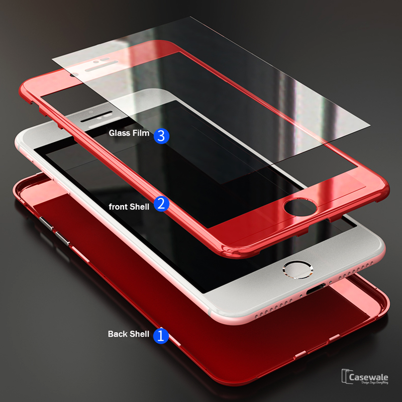 37ff935fcb3 Luxury Marble Pattern Tempered Glass Case for iPhone 6, 7 – Casewale
