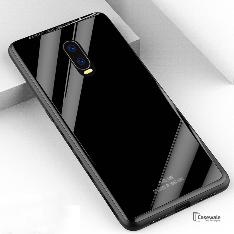 the latest fba60 03b94 Luxury Slim Tempered Glass Case for OnePlus 6T