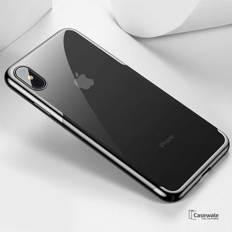 High-end Fashion Transparent Phone Case for iPhone XS Max