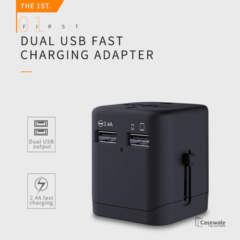 Mcdodo 2.4A Dual USB Charger International Travel Power Adapter