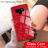 Luxury Marble Pattern Tempered Glass Case for Galaxy Note 9