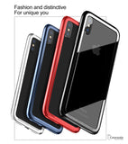 Shockproof Bumper Frame PC + Soft TPU Case for iPhone X