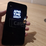 Luxury Smooth Glass Apna Time Ayega LED Light Case For iPhone XS Max
