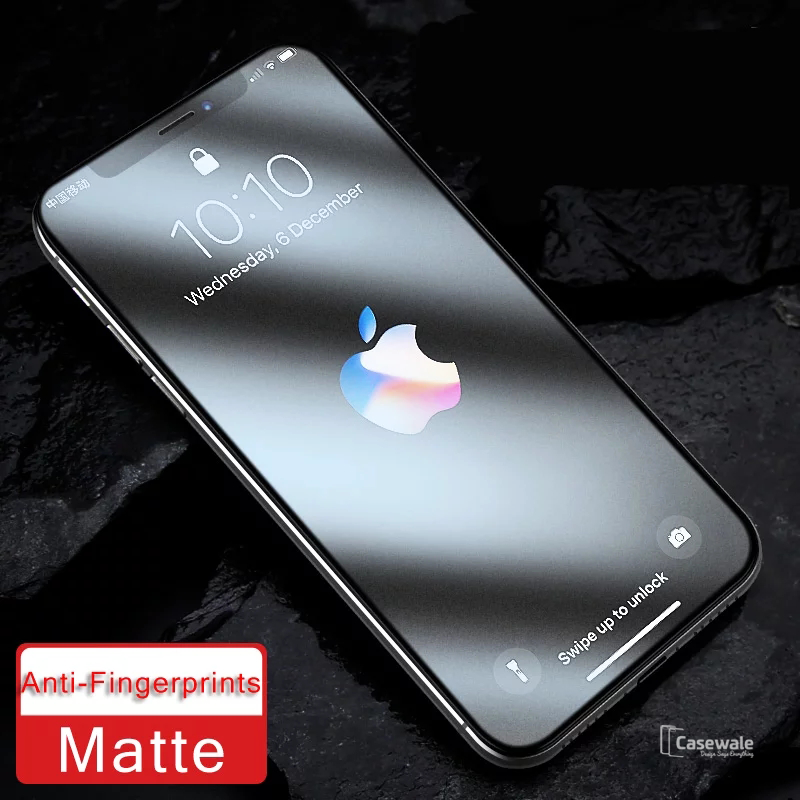 purchase cheap b9363 4c50f Matte Tempered Glass Protector for iPhone XS Max