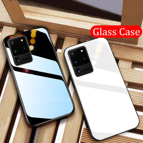 Luxury Tempered Glass Soft Edge Case for Galaxy S20 Ultra