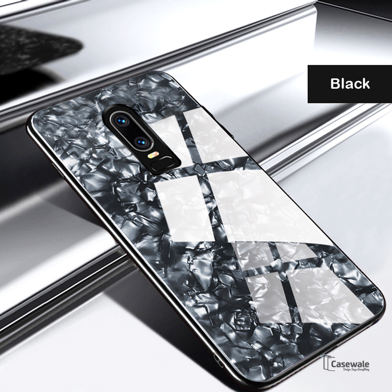 detailed look 77767 b36b0 Luxury Marble Pattern Glass Case for OnePlus 6