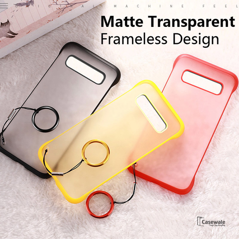 Luxury Frameless Semi Transparent Ring Finger Case ( SALE )