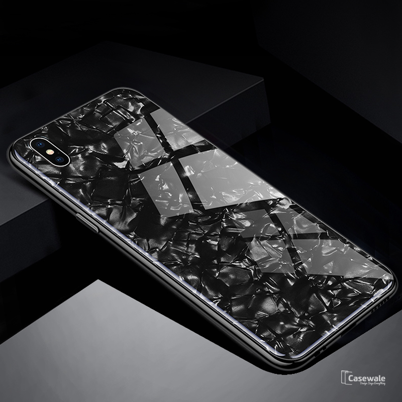 a4e15787726 Luxury Marble Pattern Tempered Glass Case For Apple iPhone X – Casewale