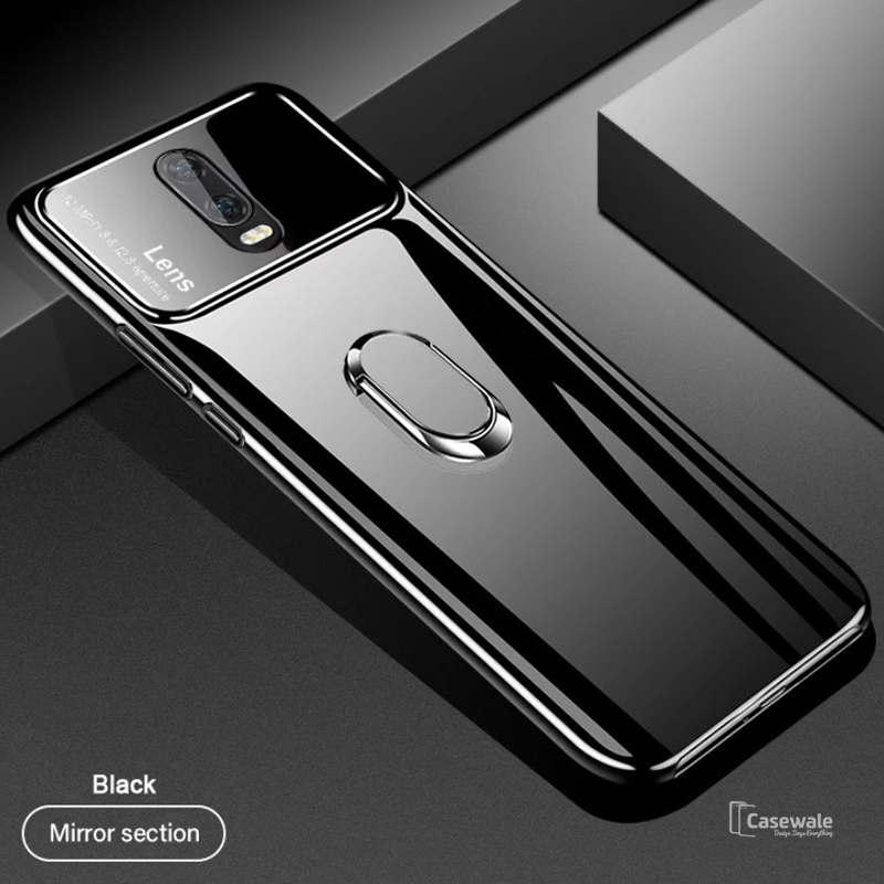Luxury Mirror Effect Ring Bracket Case for OnePlus 6T