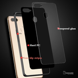 Smooth Luxury Ultra Thin Glass Shell Case for Oppo F9