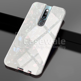 Luxury Marble Pattern Tempered Glass Case for Oppo F11 Pro