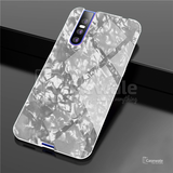Luxury Marble Pattern Tempered Glass Case for Vivo V15 Pro