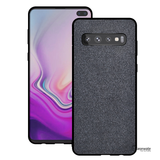 Luxury Silicone Edge+Hard Cloth Texture Case for Galaxy S10/ S10 Plus