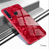 Marble Pattern Tempered Glass Case for Galaxy A9 2018