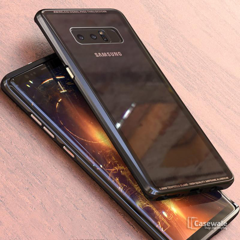 Electronic Auto-Fit Magnetic Glass Case for Galaxy Note 8