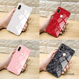 Luxury Tempered Glass Marble Pattern Case for Redmi Note 6 Pro