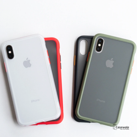 Anti-knock Armor Transparent Matte Hard Case for iPhone X, XS, XR or XS Max