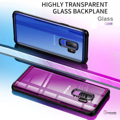 Luxury Premium Edition Glass Case for Galaxy S9/ S9 Plus