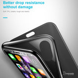 iPhone X Touchable Glass Flip Cover TPU Back Shell Case