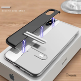 New-Man Series Auto-Fit Magnetic Aluminum Case for iPhone X