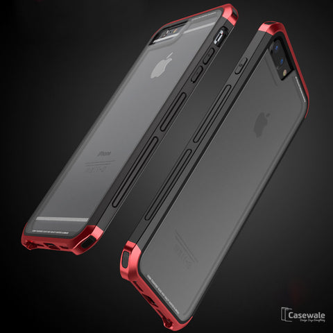 iPhone 8, 8 Plus Aluminium Transparent Gorilla Glass Case