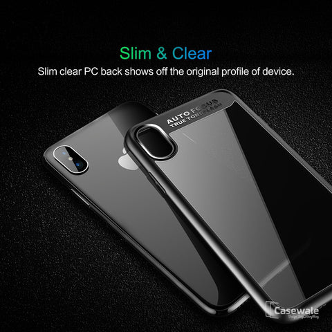 Full Protective Transparent TPU Auto Focus Case for iPhone X [Best Selling Case]