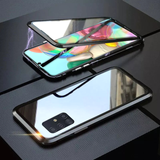 Double Sided Aluminum Metal Glass Case for Galaxy A71