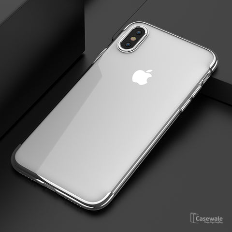 Full Coverage Ultra-Thin Protective Transparent Case  for iPhone X