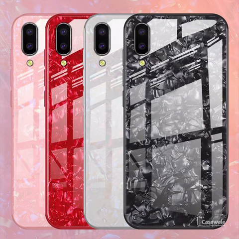 Marble Pattern Tempered Glass Case for VIVO V11 Pro