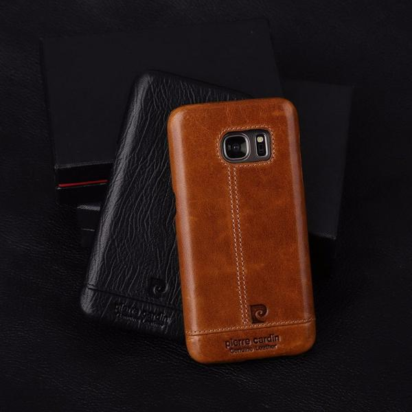 outlet store fc385 61912 Galaxy S7 Edge Genuine Leather Back Case