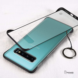 Luxury Frameless Semi Transparent Ring Finger Case for Galaxy S10/ S10 Plus