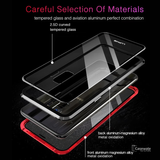 LUPHIE Double Sided Aluminum Metal Glass Case for Galaxy S9/ S9 Plus
